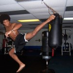 UFC fighter Alec Caceres working out