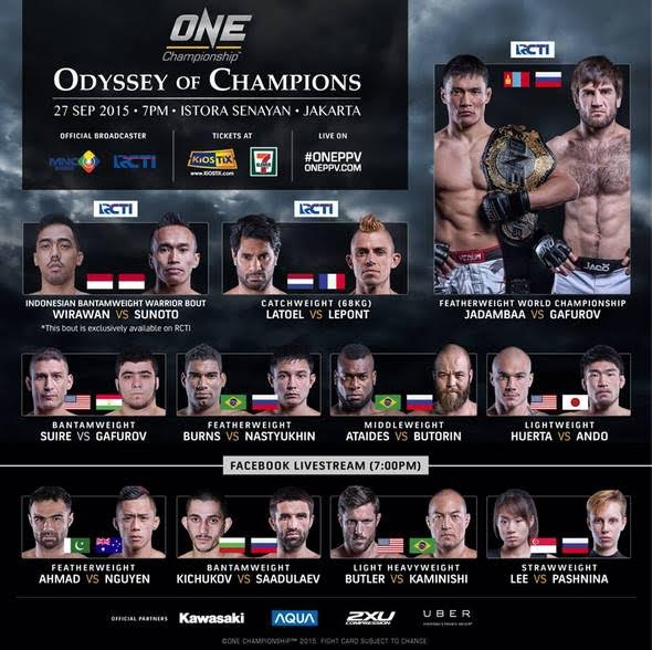 One Odyssey September Fight Card