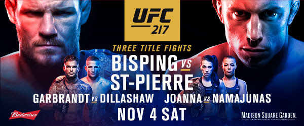 BISPING vs ST-PIERRE ufc poster