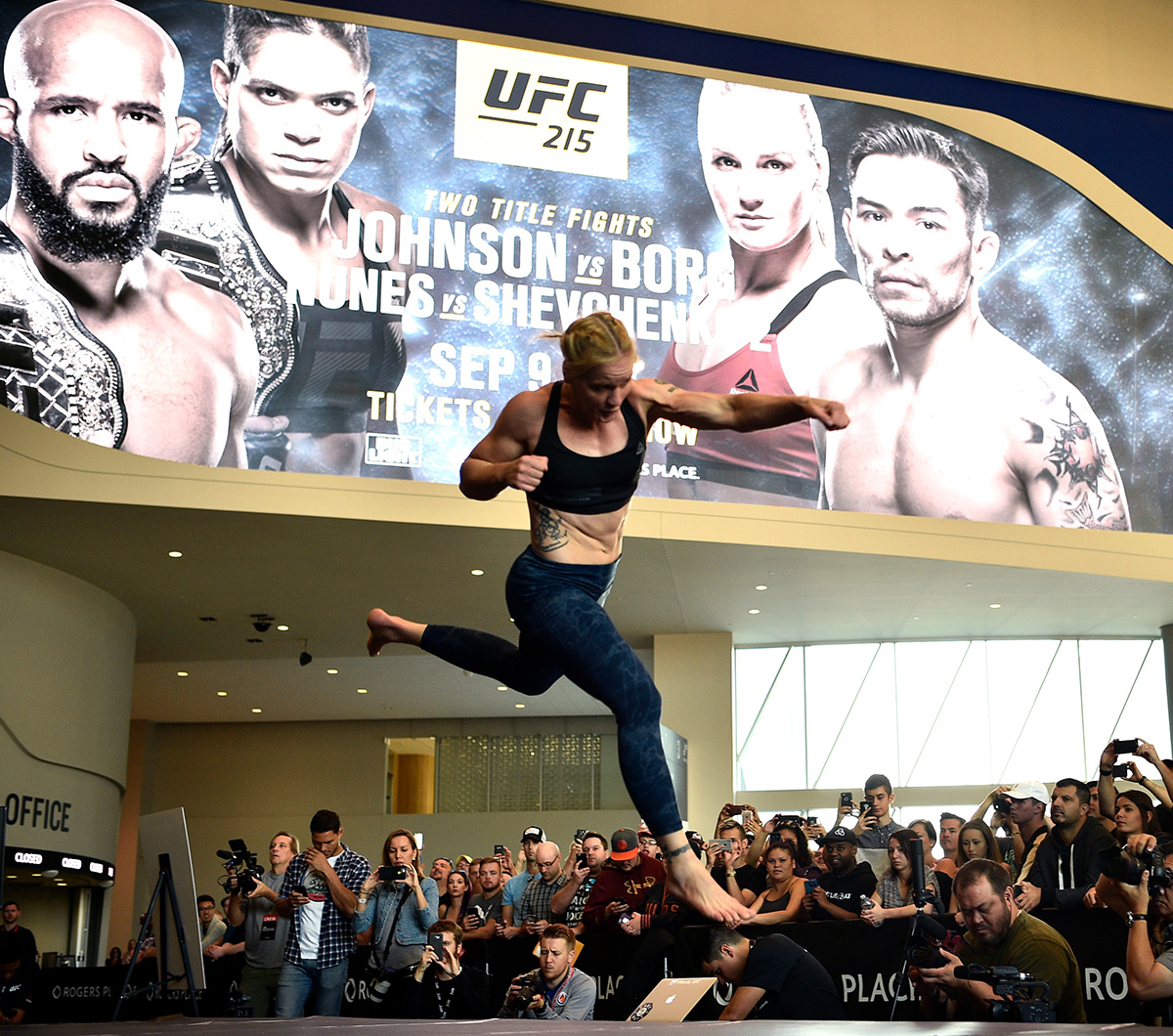 Valentina Shevchenko ufc 215 open workout
