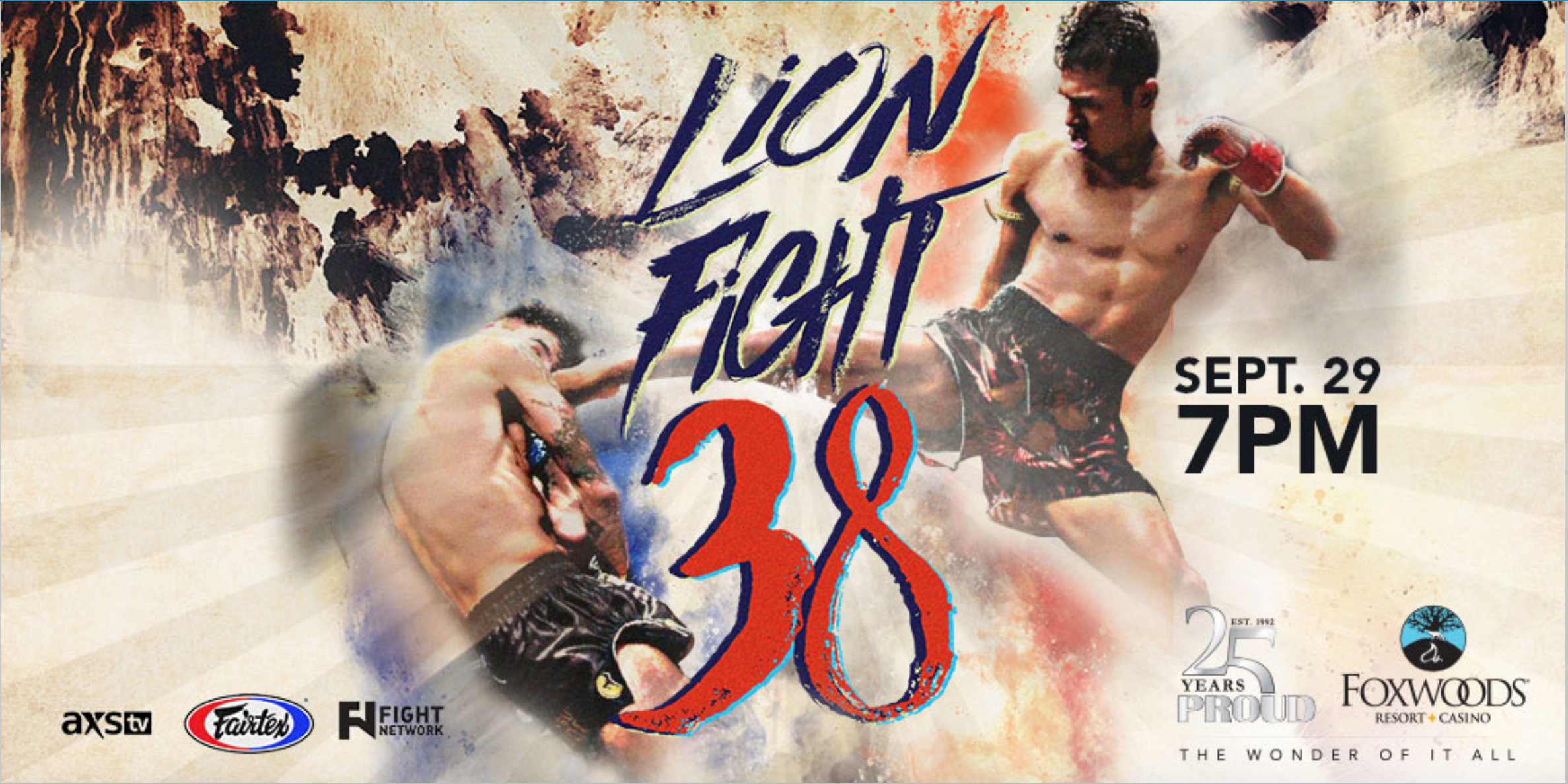 lion fight 38 poster muay thai