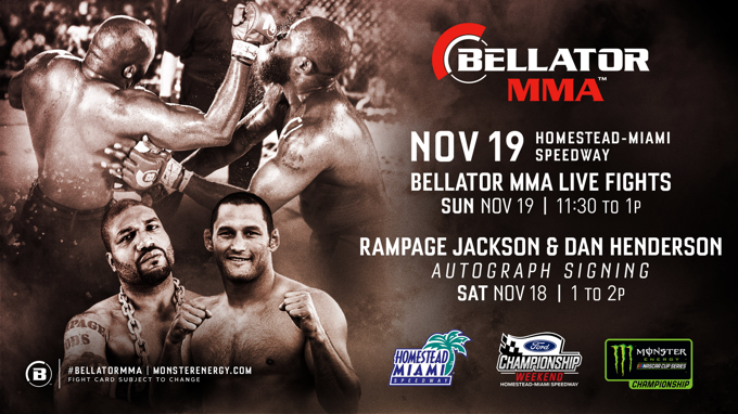 monster energy bellator mma speedway