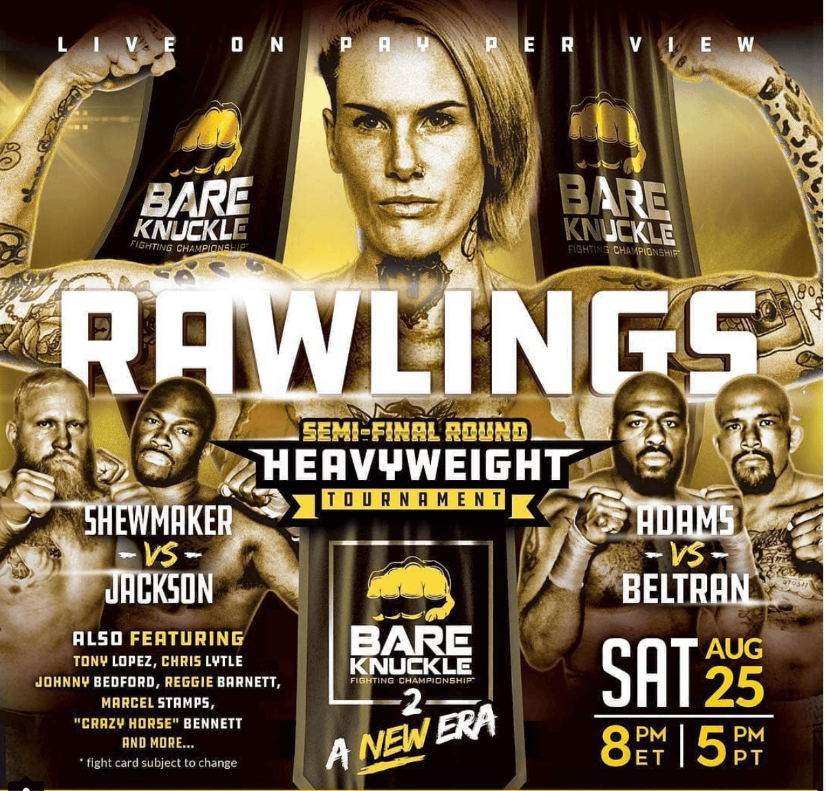bare knuckle fc bkfc 2 poster